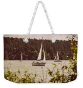 Sepia Sailing Weekender Tote Bag