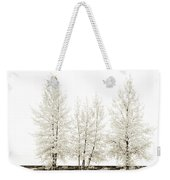 Sepia Square Diptych Tree 12-7693 Set 1 Of 2 Weekender Tote Bag