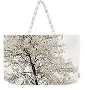 Sepia Square Tree Weekender Tote Bag