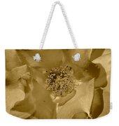 Sepia Toned Rose Close Up Weekender Tote Bag
