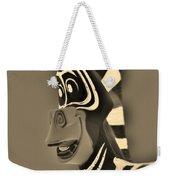 Sepia Zebra Weekender Tote Bag