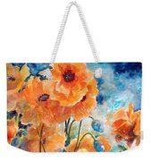 September Orange Poppies            Weekender Tote Bag by Kathy Braud