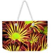 September's Radiance In A Flower Weekender Tote Bag