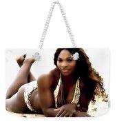 Serena Williams In The Sand Weekender Tote Bag