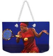 Serena Williams Painting Weekender Tote Bag by Paul Meijering