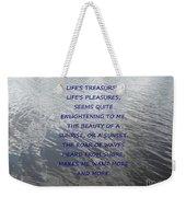 Serene Water Weekender Tote Bag by Joseph Baril