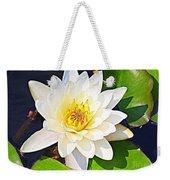 Serenity In White - Water Lily Weekender Tote Bag