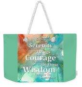 Serenity Prayer 1 - By Sharon Cummings Weekender Tote Bag
