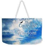 Serenity Prayer 3 - By Sharon Cummings Weekender Tote Bag