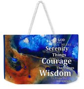 Serenity Prayer 4 - By Sharon Cummings Weekender Tote Bag
