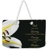 Serenity Prayer 3 Weekender Tote Bag