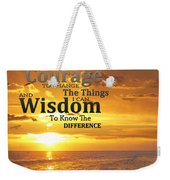 Serenity Prayer With Sunset By Sharon Cummings Weekender Tote Bag