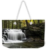 Serenity Waterfalls Landscape Weekender Tote Bag by Christina Rollo