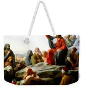 Sermon On The Mount Watercolor Weekender Tote Bag