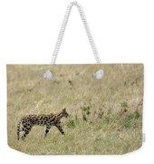 Serval Hunting Weekender Tote Bag