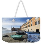 Sestri Levante And Boats Weekender Tote Bag