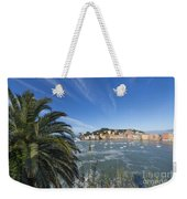 Sestri Levante With Palm Tree Weekender Tote Bag