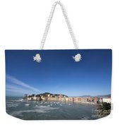 Sestri Levante With The Sea And Blue Sky Weekender Tote Bag