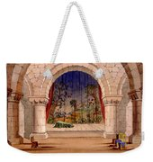 Set Design For Hamlet By William Weekender Tote Bag