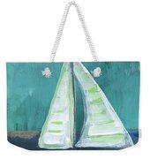 Set Free- Sailboat Painting Weekender Tote Bag