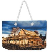 Setting Sun Gathering Storm And Old Homestead Weekender Tote Bag