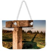 Setting Sun On A Cross By The Trenches Weekender Tote Bag