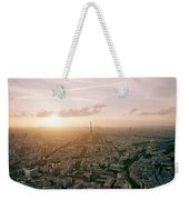 Setting Sun Over Paris Weekender Tote Bag