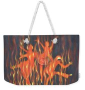 Setting The Stage On Fire Weekender Tote Bag