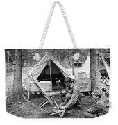 Setting Up Camp Weekender Tote Bag