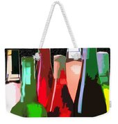 Seven Bottles Of Wine On The Wall Weekender Tote Bag by Elaine Plesser