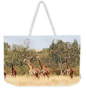 Seven Masai Giraffes Weekender Tote Bag