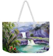 Seven Sacred Pools Weekender Tote Bag