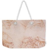 Seven Studies Of Grotesque Faces Weekender Tote Bag