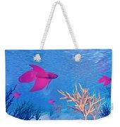 Several Red Betta Fish Swimming Weekender Tote Bag