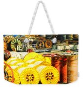 Sew A Needle Pulling Cable Dockside At Port Fourchoun Louisiana Weekender Tote Bag