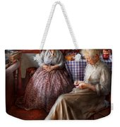 Sewing - I Can Watch Her Sew For Hours Weekender Tote Bag
