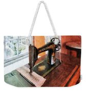Sewing Machine Near Lace Curtain Weekender Tote Bag