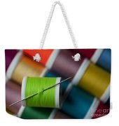 Sewing Needle With Bright Colored Spools Weekender Tote Bag