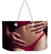 Sexy Couple Man Hands Embracing Woman Weekender Tote Bag