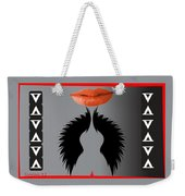 Sexy Lady Bird Lips Red White Black Expressions Weekender Tote Bag
