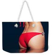 Sexy Woman Bottom In Red Bikini In Water Weekender Tote Bag