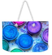 Shades Of Blue Watercolor Weekender Tote Bag