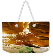 Shades Of Light Shadow And Texture On Cliff Wall Weekender Tote Bag