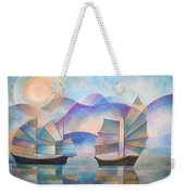 Shades Of Tranquility Weekender Tote Bag