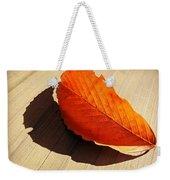 Shadow Cast By Leaf Weekender Tote Bag
