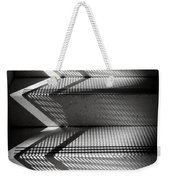 Shadow Play - Black And White Weekender Tote Bag