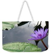 Shadows On A Lily Pond Weekender Tote Bag