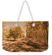 Shadows On Autumn Lane Weekender Tote Bag