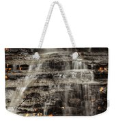 Shale Waterfalls Cascade Weekender Tote Bag
