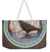 Shaman Black Raven And His Mate Medicine Woman Blue Fairy Animal Spirit Medicine Wheel Weekender Tote Bag